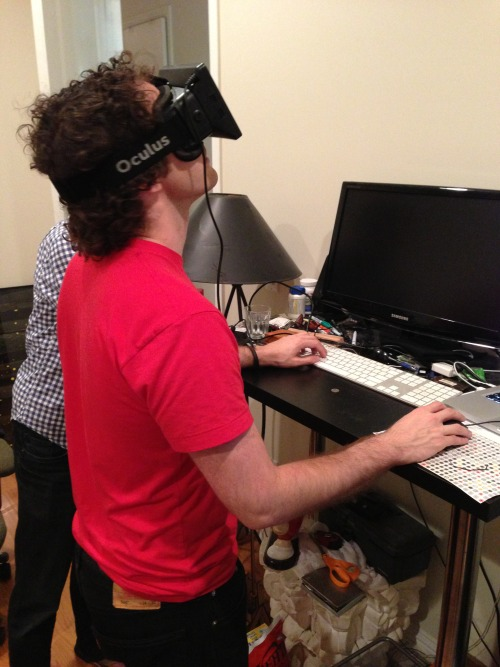 chrismaury:  The future is Here. I finally received my Oculus Rift, and It's amazing. The Rift is the first affordable Virtual Reality headset that has the potential to deliver immersive experiences to the mass consumer market. As large of an impact that smart phones and tablets have had, these devices and their successors are going to dramatically shift the way we interact with computers.  I for one, cannot wait.