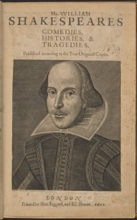 "We're celebrating Shakespeare's birthday today with a lovely image depicting his First Folio, which the Library is honored to have in its collection! It's a great day to enjoy one of his sonnets, read MacBeth (that's one of our favorites), or delve into the mysterious life of the master author. May your day be ""as merry as the day is long."" (Much Ado About Nothing)"