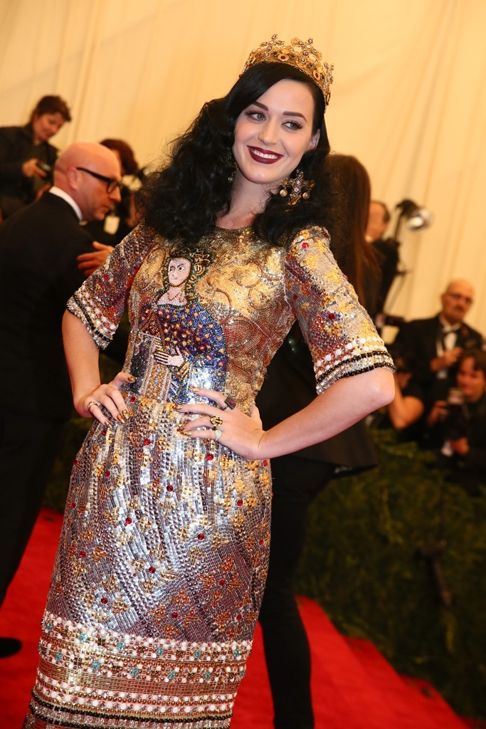 womensweardaily:    Katy Perry in Dolce & Gabbana at the Met Gala Photo by Evan Falk