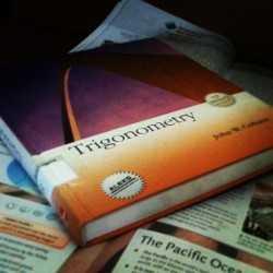 A BOOK!?OF TRIGONOMETRY!? I'm done😒 #math #trigonometry #lol #fml #tumblr #omg #fuuu
