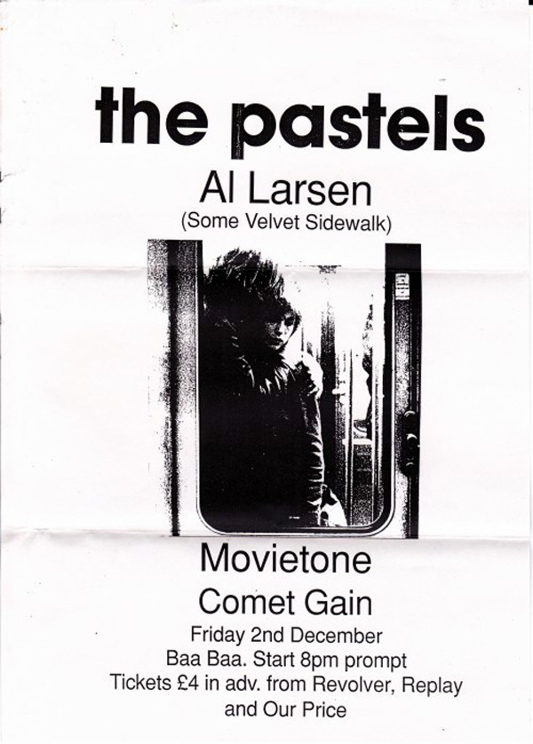 soundofyoungscotland:  The Pastels - Bristol, Friday 2nd December, 1994 Courtesy of Richard King - ©Richard King