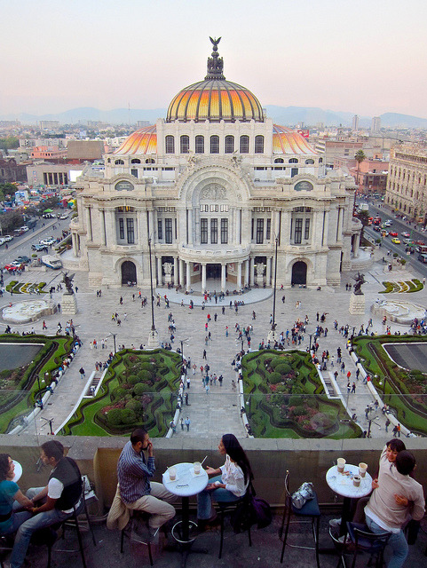 letsbuildahome-fr:  Palacio de Bellas Artes view from the Coffee Factory Café in Mexico City (by israel).