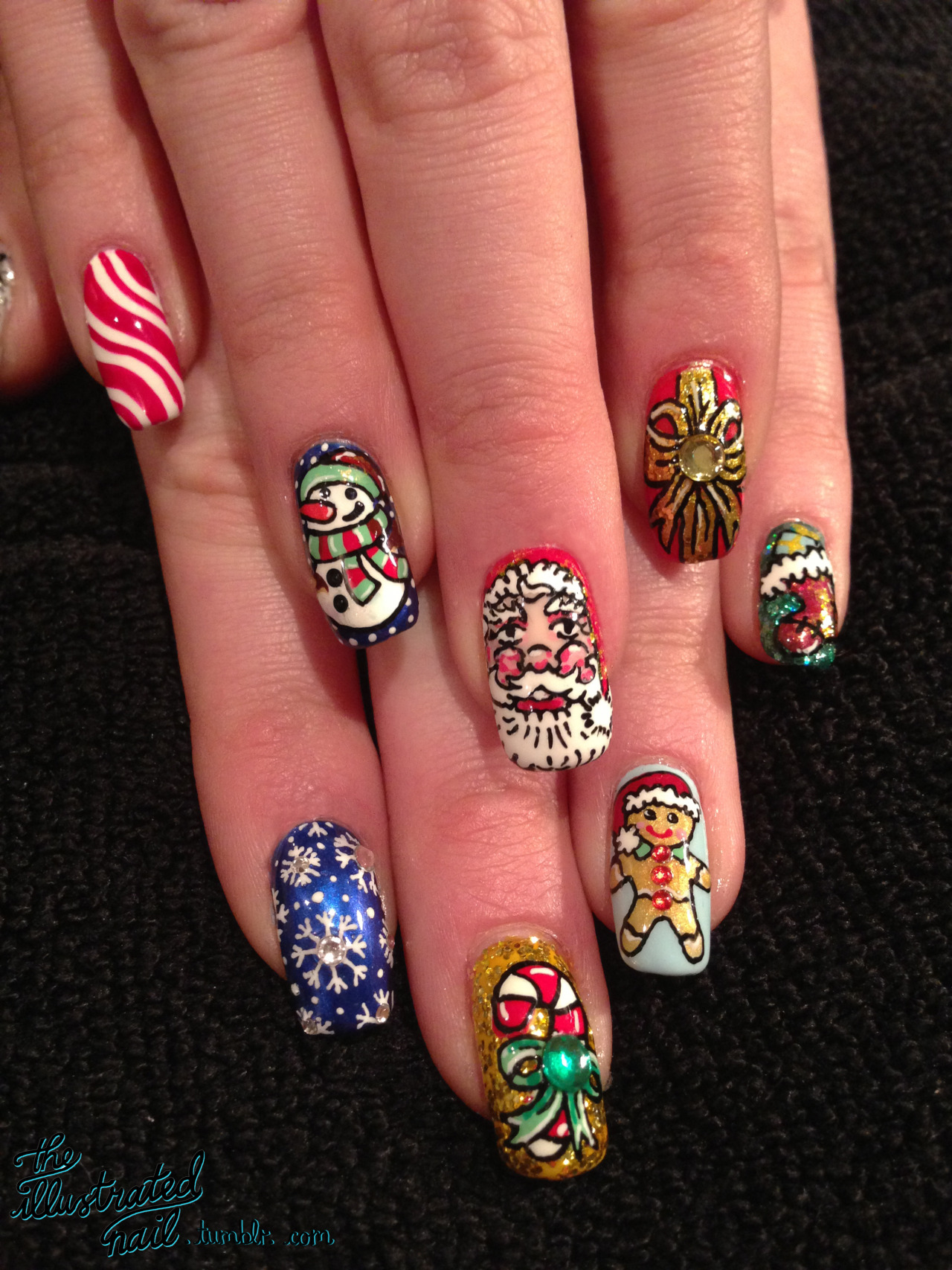 theillustratednail:  MERRY CHRISTMAS EVERYONE! x