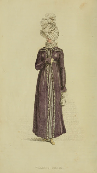 Walking dress, Ackermann's Repository, March 1815  PURPLE!