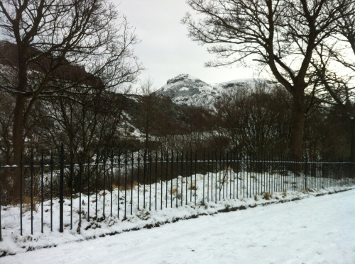 Arthur's Seat from St Leonard's Bank this morning.