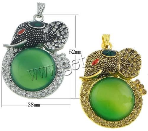 zinc alloy animal pendant jewelry