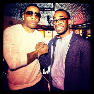 Met @nelly_mo today. The first concert I ever went to was the st. lunatics & @cashmoney. He was the coolest.  (at The Varick Room at TriBeCa Cinemas)
