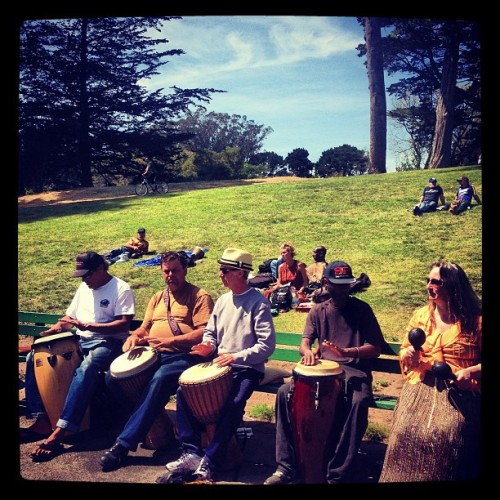 #hippieHill #sanfrancisco  (at Golden Gate Drum Circle)