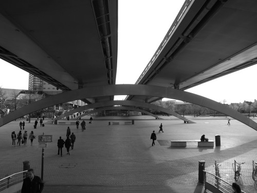 Viaduc Le Corbusier, Lille. April 2010. I passed through Lille after being stuck in Amsterdam during the eruption of the Icelandic volcano that grounded all flights.