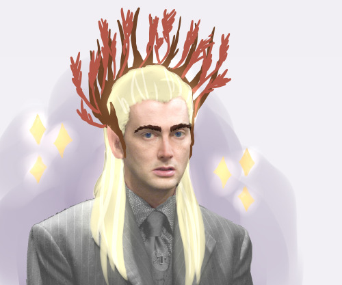 I've learned that David Tennant could play Thranduil, so here it goes