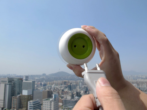 A solar-powered plug that sticks to windows and out from the crowd Sure, there are a few kinks to be worked out, but the designers behind the clever and unfussy Window Socket are onto something: A solar converter-charger that serves as an outlet on windows, not walls.