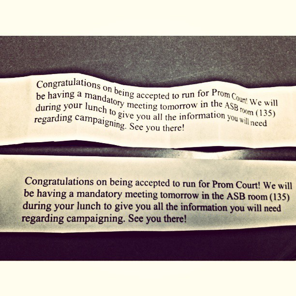 Yayyyy @loveelyriaah and i are both accepted! Vote us for prom!!!!! #prom #friends #together #accepted #excited #itson  (at schooooool)