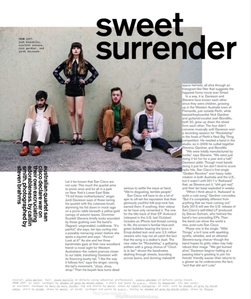 San Cisco, NYLON Magazine