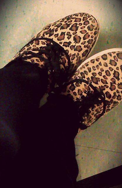 Cheetah print shoes Vans Tumblr shoes