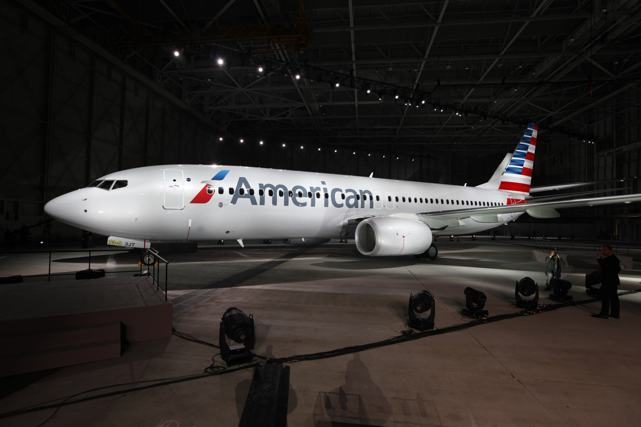 Becoming a new American: The new look of American Airlines.