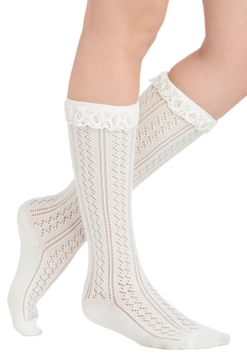 Dress like Rachel Berry: rockin' ruffle socks $14.99 from Modcloth
