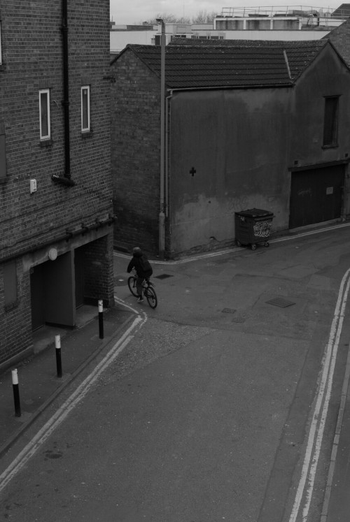 chistophers:  Back Street Cyclist, Swindon