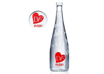 Limited Edition Evian Bottle 2013 by Diane Von Furtensberg