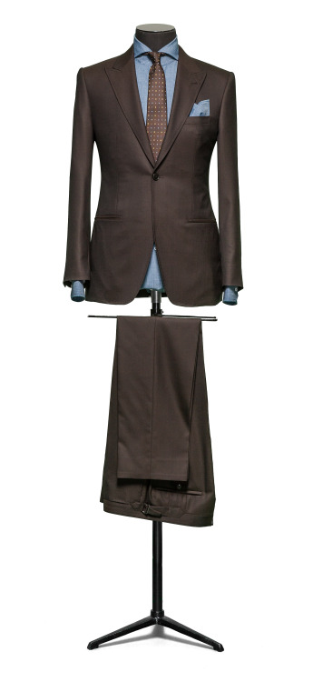 SuitShop Brown & Chambray