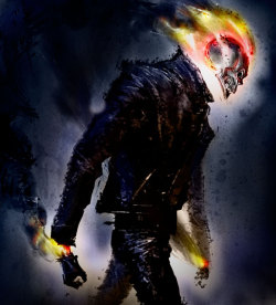 timetravelandrocketpoweredapes:  Ghost Rider by Edward Pun Artist blog