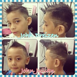 My babies new haircut! Inspired by @jeremylin @johnraygalvez @jeffrey30galvez @beejaylacsinto @jaysooonn @marce_28 @racky_me17 @prince_kewl  (at Joser's Place)
