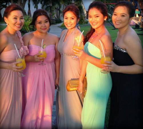 Make-up by CC Refreshing drinks + sunset + with our lovely sisters. :) All dolled up for our cousin's wedding! We always enjoy doing their make-up. It's such a fun ladies' bonding session every time!