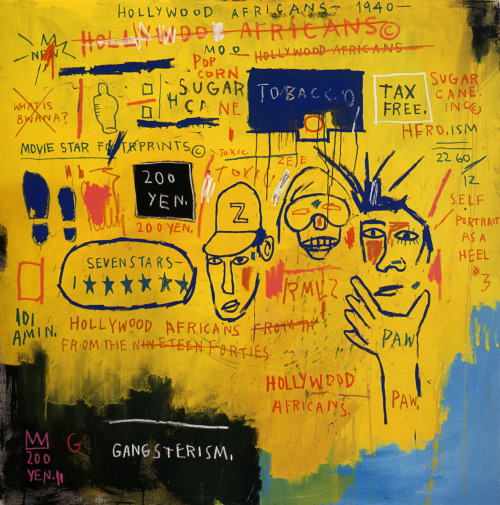brixtonnihilistcyclingclub:  Jean Michel Basquiat / Hollywood Africans