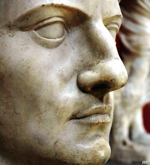 hadrian6:  The face of the emperor Claudius. Vatican Museums. Italy. http://hadrian6.tumblr.com