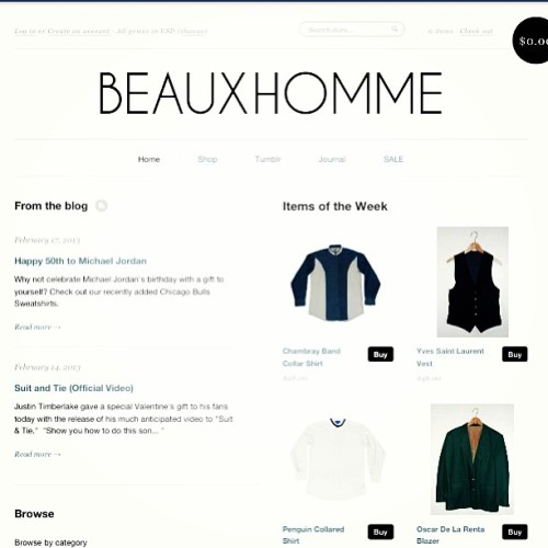 Shop Mens Vintage @ www.beauxhomme.com