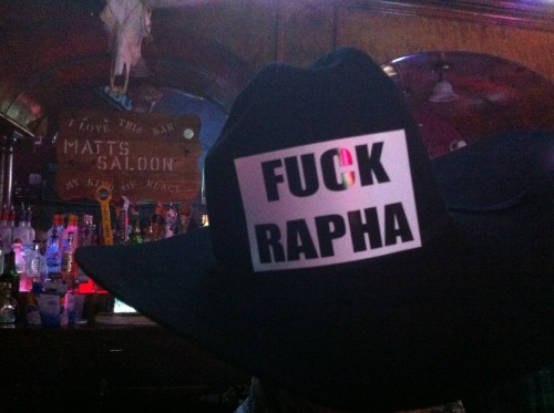 fuzzyimages:  seehbee:  Seen on a cowboy hat in Prescott.  Nice.