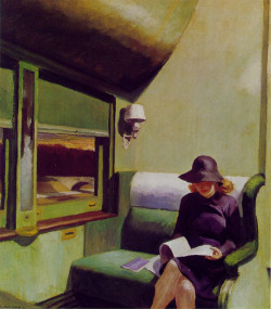 nevver:  Compartment Car,  Edward Hopper