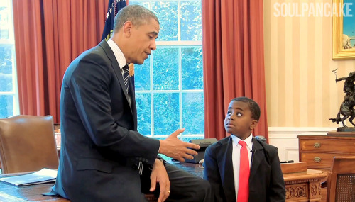 Kid President meets the REAL President!  See the video tomorrow @ 9am PST / 12 Noon EST - Only on our youtube page!  http://youtube.com/SoulPancake