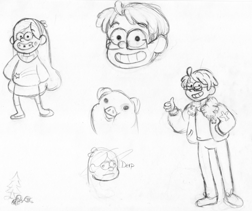 trying to figure out how to mimic the Gravity Falls art style. shit's adorable but there's a fine line between wide-eyed, friendly cartoon character and deranged madman and I feel like i'm having trouble finding it. idk man. mabel referenced from that one picture of mabel you see everywhere.