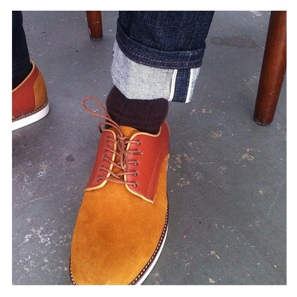 I Love Ugly / Crosby shoe & Japanese denim #iloveugly #crosby #derbyshoe #menswear #spring13 #selvidgedenim