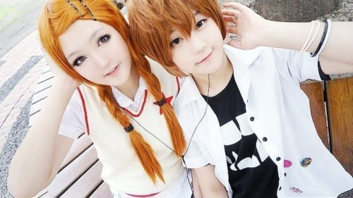 11carla93:  Cosplay de Risa y Otani de Lovely x Complex n.n Cosplay of Risa and Otani of Lovely x Complex n.n
