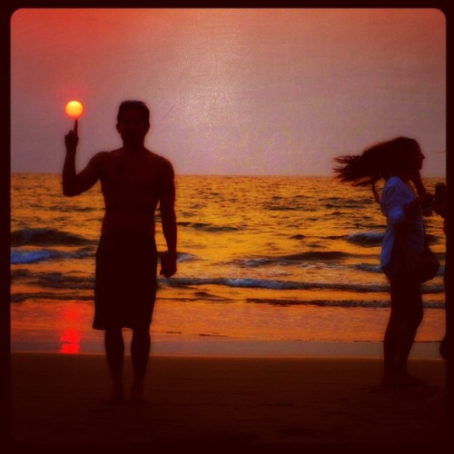 The Sun - Arambol Beach - Goa, India