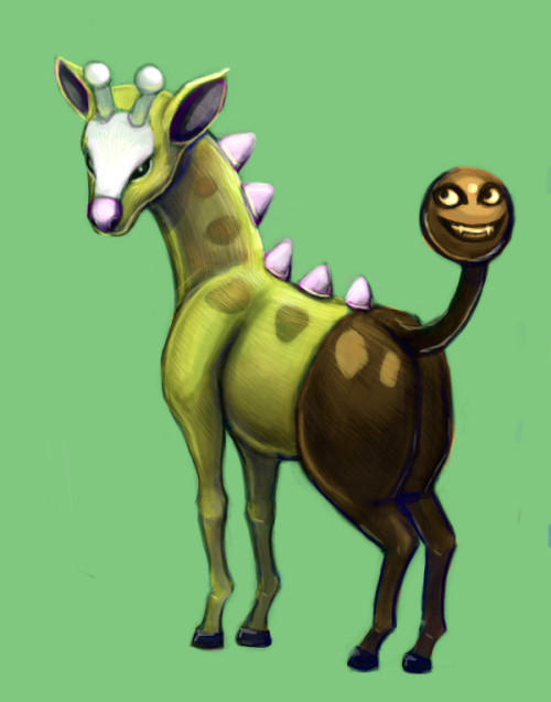 It's Girafarig. Just in time for the flood of Pokemon X&Y stuff. Oh well.