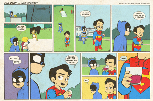 jl8comic:  JL8 #124 by Yale Stewart Based on characters in DC Comics. Creative content © Yale Stewart. Like the Facebook page here! Archive 2013 Con Schedule Twitter Pick up the first issue of my creator-owned comic here, or merch at the new online store!
