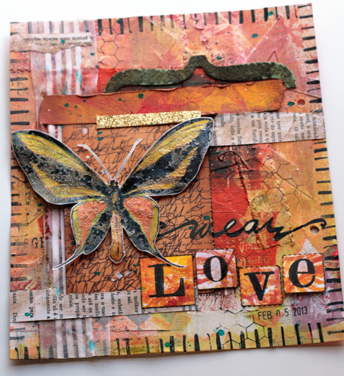 wear love an art journal page