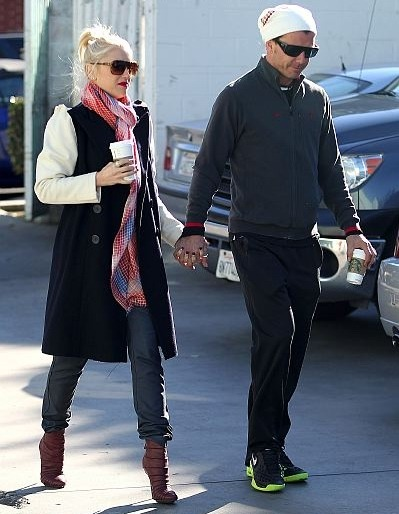 Gwen Stefani and Gavin Rossdale grab their morning coffee, 14th January 2013.