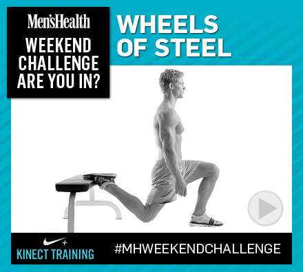 Shape STRONG, muscular legs with this grueling Men's Health Weekend Challenge: http://ow.ly/gxBUO Brought to you by BJ Gaddour, C.S.C.S., metabolic training expert and our friends at Xbox.