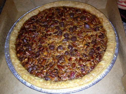 Chocolate Pecan Pie from Cracker Barrel 👍