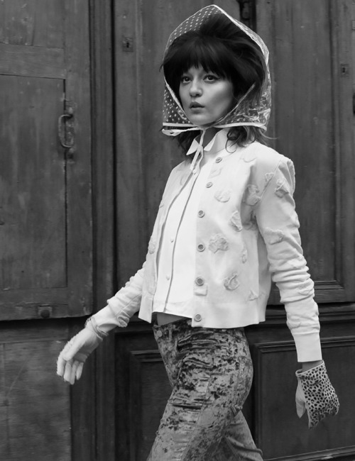 Irina Lazareanu by Baldovino Barani for ODDA May 2013