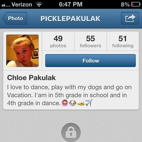 Why are there children with Instagram?