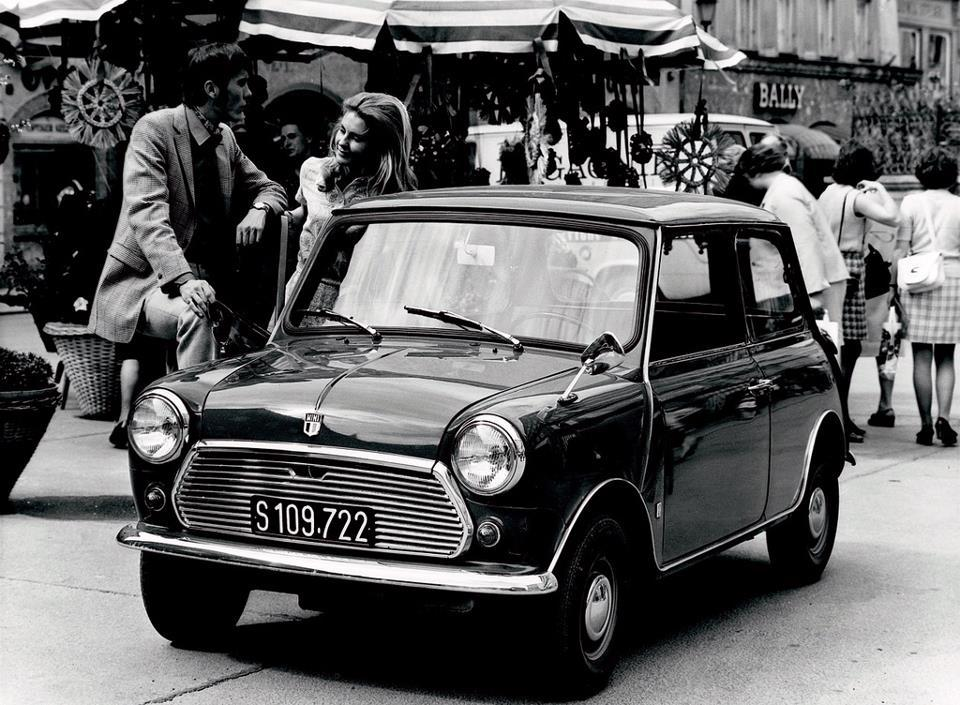 theclassyissue:  The Mini, made by the British Motor Corporation (BMC) and its successors from 1959 until 2000.