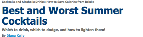 If you drink and are trying to lose weight. This is a great article for you