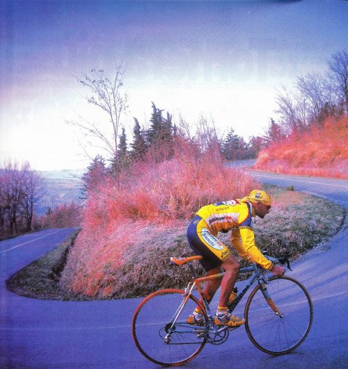 Pantani doing what he did best - going up hill