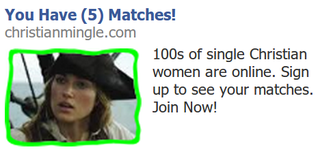 ummmmm why is Keira Knightly in PotC relevant to Christianmingle?