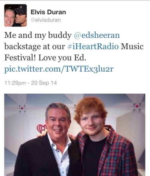 Ed with Elvis Duran!