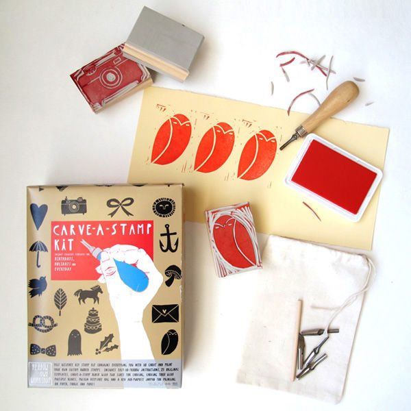 carve a stamp kit by yellow owl workshop